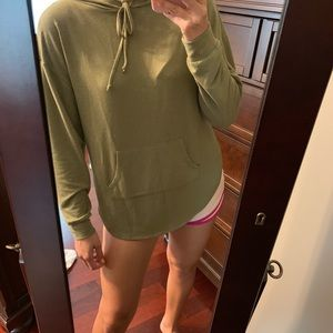 Green cut out hoodie